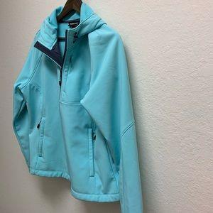 Kirkland Signature jacket size XL. Light blue/teal